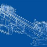 Wireframe of a drilling machine