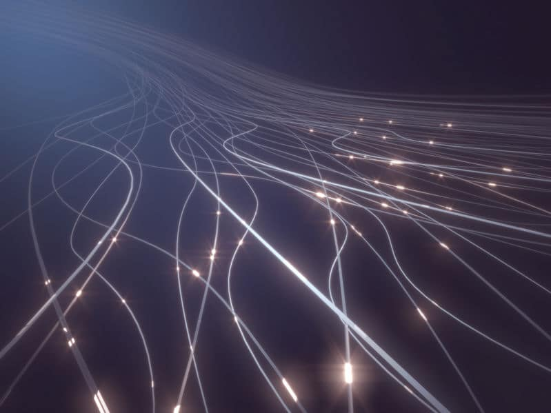 Fiber optic cables provide high speed internet access.
