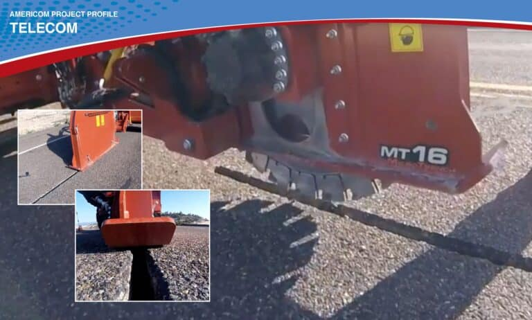 Americom helping a client solve their microtrenching needs.